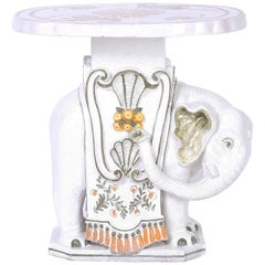 Italian Terra Cotta Elephant Drink Stand or Table