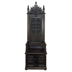 19th Century Gothic Cathedral Chair