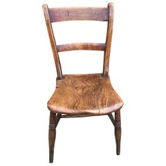 19th Century Elm and Beech Windsor Bar Back Chairs