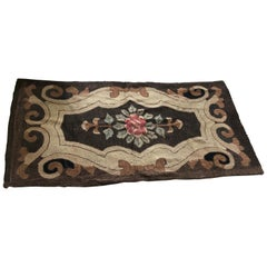19th Century American Hooked Rug