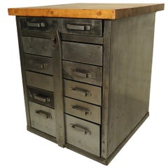 Industrial Cabinet with Butcher Block Top