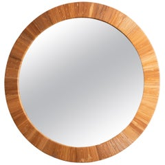 Round Rattan Surround Mirror
