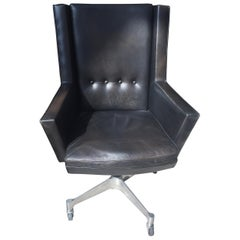 Jules Wabbes Executive Chair Black Leather