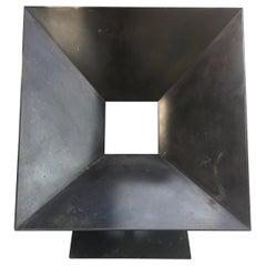"Design Steel Armchair ""Cadre"" Stéphane Ducatteau"