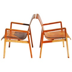 Vintage Pair Hallway 403 Chairs by Alvar Aalto