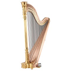 1915 Premium Style 23 Gold Lyon and Healy Concert Grand Harp