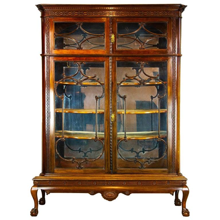 Antique Display Cabinet Walnut Display China Cabinet Scotland