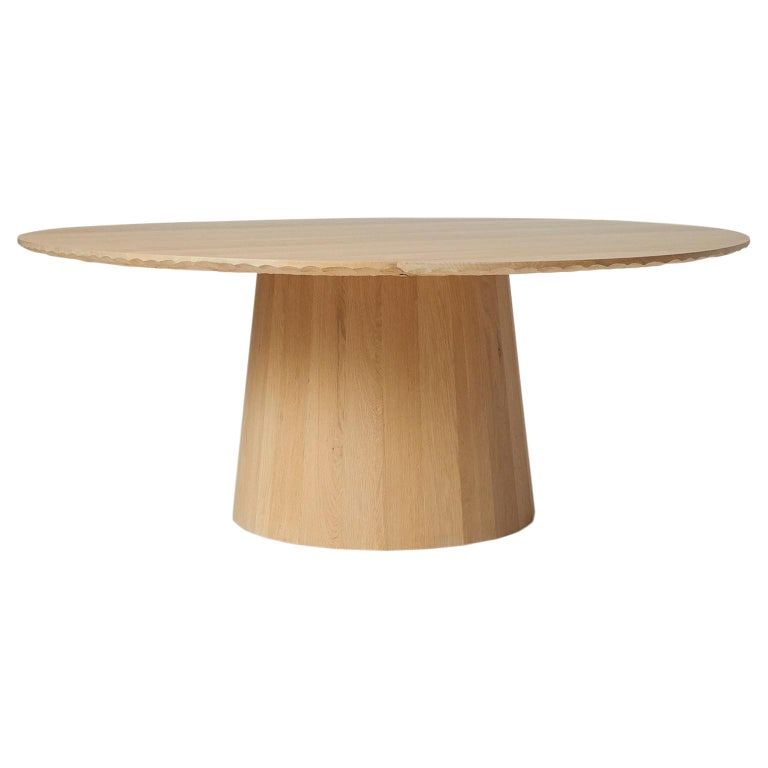 Oak Dining Table by Kaspar Hamacher For Sale