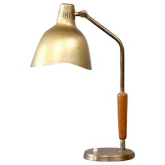 Rare Brass Table Lamp by Carl-Axel Acking, Sweden, 1950s