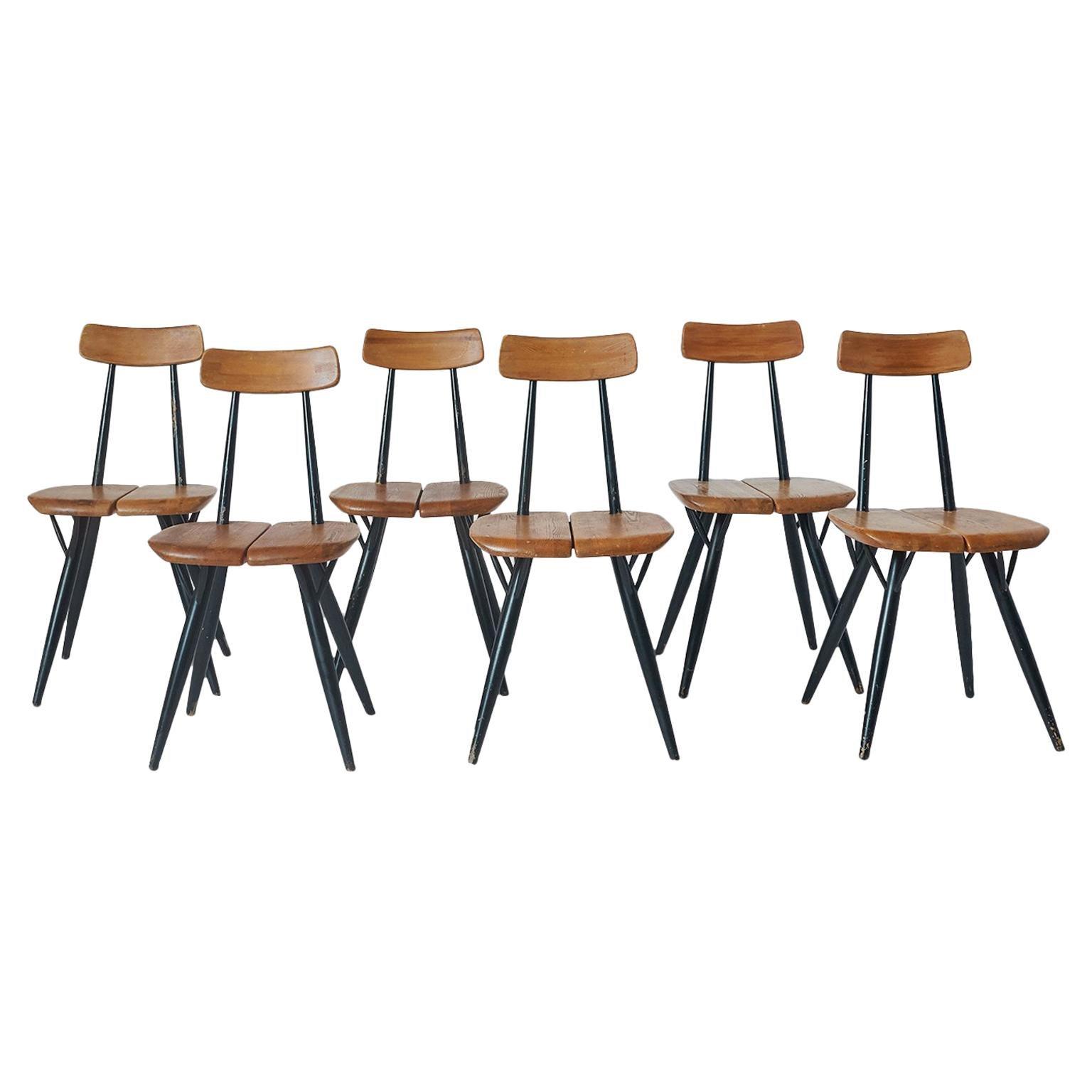 "Set of 6 ""Pirkka"" Chairs by Ilmari Tapiovaara"