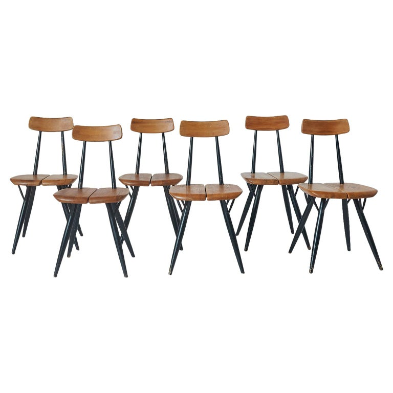 "Set of 6 ""Pirkka"" Chairs by Ilmari Tapiovaara For Sale"