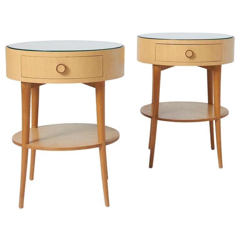 Pair of Joaquim Tenreiro Side Tables For Sale