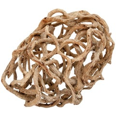 Liana Vine Organic Sculpture in Ovoid Shape, from Thailand