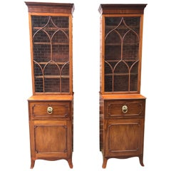 Pair of Small Mahogany Bookcases