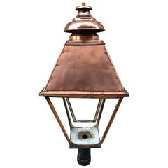 Large Copper Post Lantern Which Can Be Modified to Hang