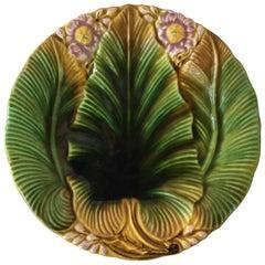 Majolica Palm Leaf Plate Villeroy & Boch, circa 1890