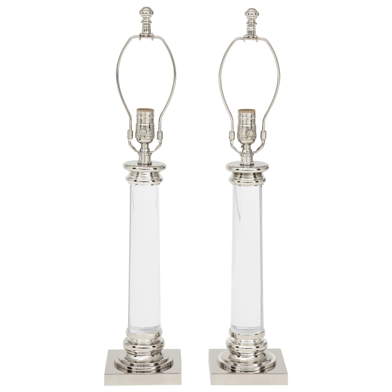 Frederick Cooper Glass Column Lamps