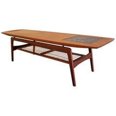 Arne Hovmand Olsen Teak and Tile Coffee Table