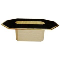Vintage Etched Brass Art Design Table by Roger Vanhevel