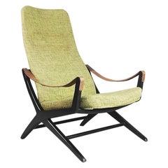 Rare Vintage Adjustable Joker Easy Chair by Bengt Ruda for Ikea, Sweden, 1950s