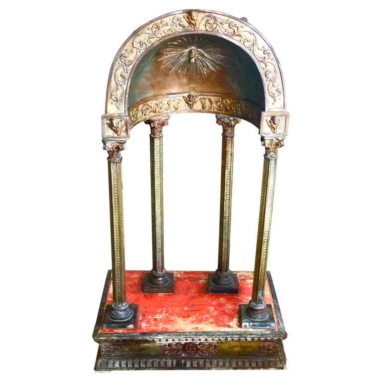 17th Century Tuscany Metal Wood Tabernacle in Antonio da Sangallo Style, Italy For Sale