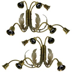 Pair of Whimsical Midcentury Italian Sconces