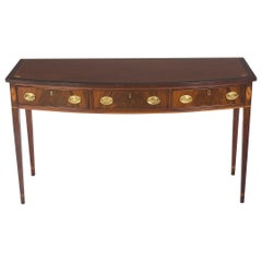 Hickory Chair Bow Front Console Table Small Buffet Server