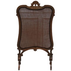 Antique Firescreen Made of Oak, France, 19th Century