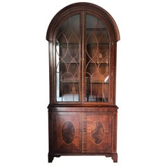 Top of the Line Baker Historic Charleston Arch Top China Cabinet Breakfront