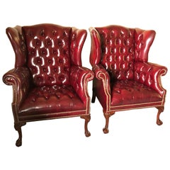 6dedd98a82b1 Oversized Lillian August Brown Tufted Leather English Chesterfield ...