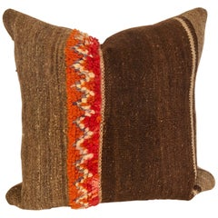 Custom Pillow by Maison Suzanne Cut from a Vintage Wool Moroccan Berber Rug