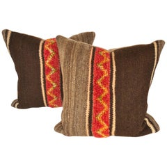 Custom Pillows by Maison Suzanne Cut from a Vintage Wool Moroccan Berber Rug