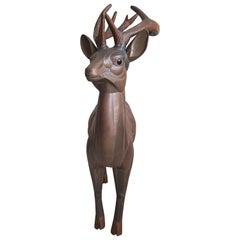 Copper deer by Sergio Bustamente, 1970s