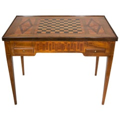 18th Century Games Table in Marquetry of Precious and Rare Woods, Louis XVI