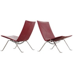 2 Poul Kjaerholm PK22 Lounge Chair, 1956 for E. Kold Christensen, Denmark