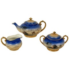 Porcelain Tea Set, Model Sahara from 1920s, in Cabana Style