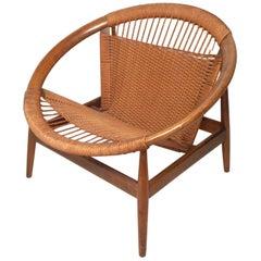 """Danish Modern """"Ringstol"""" Hoop Chair by Illum Wikkelsø"""