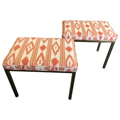 Sleek Pair of Mid-Century Modern Mastercraft Benches Ottomans