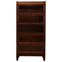 Antique Arts & Crafts Mission Oak Globe Wernicke Barrister 5-Case Bookcase
