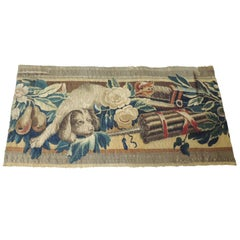 18Th Century Aubusson Tapestry Depicting Dog Fragment