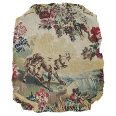 Antique Aubusson Oval Tapestry Fragment