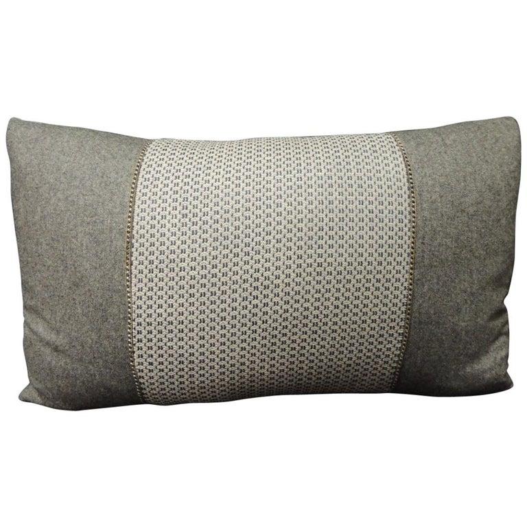 Vintage Loro Piana Cashmere Decorative Lumbar Pillow For Sale