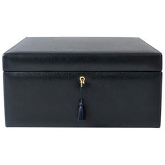 Italian Leather and Suede Jewelry Box