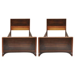 Pair of Mid-Century Modern Twin Beds