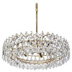 Vintage Austrian Palwa Crystal Chandelier With Three Levels