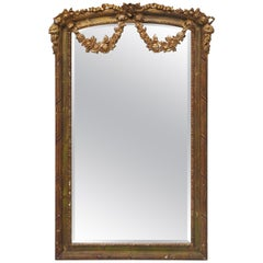 Ornate Gold Guilted Mirror Interpretation of Louis XVI