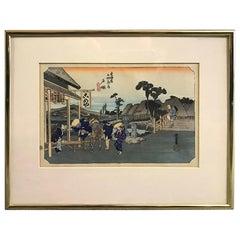 Utagawa Ando Hiroshige Japanese Woodblock Print from Fifty-Three Stations Series
