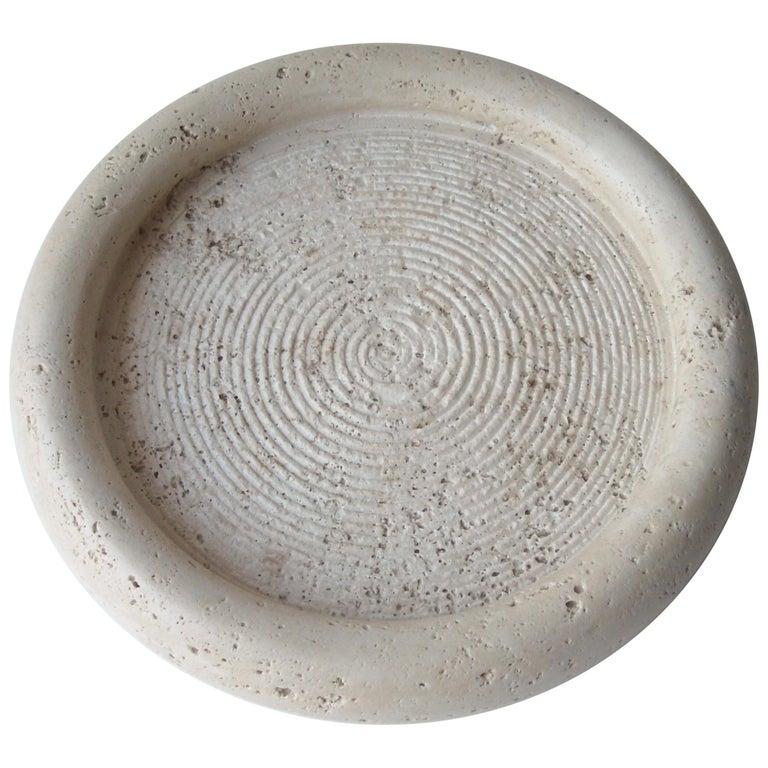 Fratelli Mannelli Travertine, Limestone, Bowl Centerpiece For Sale