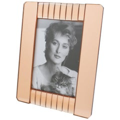 French Copper Pink Mirror Large Picture Frame