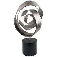 Curtis Jere, 1995 Signed Modern Abstract Table Stainless Steel Sculpture